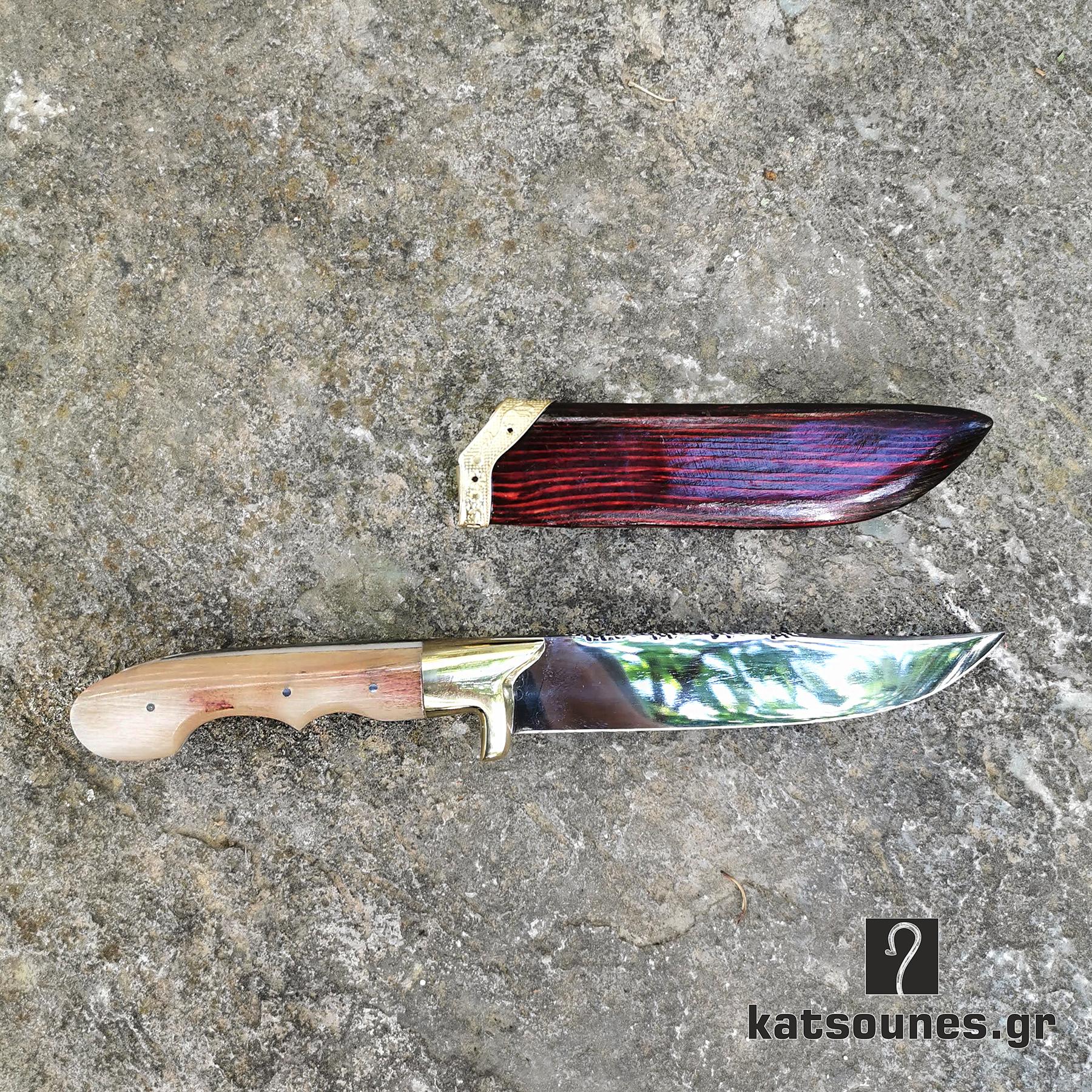 Χειροποίητο Κρητικο μαχαίρι του Βοσκού (28 εκ & 24 ΕΚ)